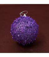 Vianočná guľa lupienky fialová 10cm 3ks