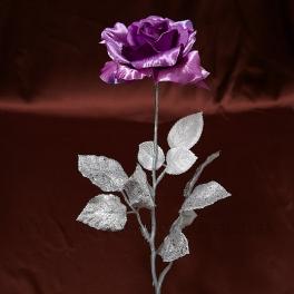 AKCIA ZĽAVA - 50% Ruža fialovo-rúžová LUREX