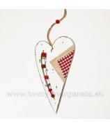 Srdce drevené s guličkami- zľava 50%