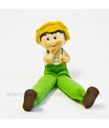 Chlapček Jožko s textilnými nohami