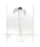 Anjel Medúza 74cm Biela patina