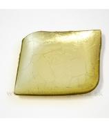 Tácka sklenená zlatá slza  13cm