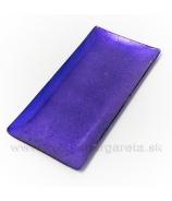 Tácka sklenená obdĺžnik fialový