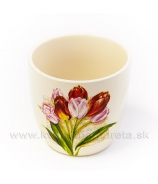 Kvetináčik Tulipány veľký 9cm
