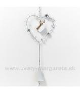 Závesné kovové srdce s o zvončekom