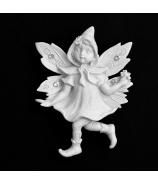 Magnetka Svetluška s kvetom biela