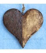 Srdce delené hnedé 10cm výpredaj 50%