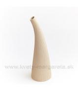 Keramika Letokruhy Roh 30cm pieskový