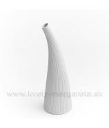 Keramika Letokruhy Roh 30cm biely