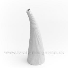 Keramika Letokruhy Roh 30cm biely - zľava 50%