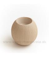 Keramika Letokruhy Guľa svietnik malý pieskový