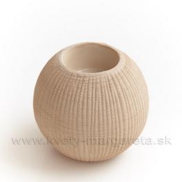 Keramika Letokruhy Guľa svietnik veľký pieskový - zľava 50%