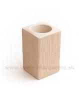 Keramika Letokruhy Hranol svietnik malý pieskový