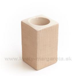 Keramika Letokruhy Hranol svietnik malý pieskový - zľava 50%