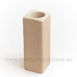Keramika Letokruhy Hranol svietnik veľký pieskový - zľava 50%