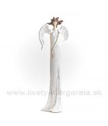 Anjel Medúza 23cm biela matná