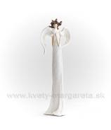 Anjel Medúza 23cm biela cukrová so srdcom