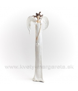 Anjel Medúza 32 cm cukrová biela