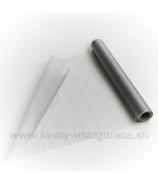 Organza hladká sivo-strieborná š:36cm
