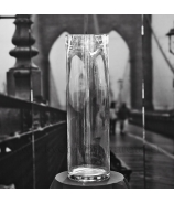 Sklenená váza valec  50cm