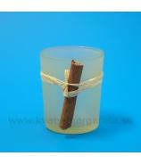Sklenený kalištek so škoricou Vanilka