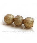 Gule Ornament x3 Zlato 10cm