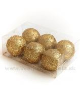 Gule Ornament x6 Zlato 6cm