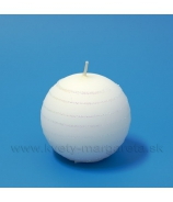Sviečka guľka Andalo biela 6cm