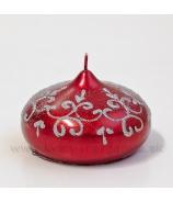 Sviečka cibulka Tiffany červená 10cm