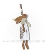 Závesný zajko so šatkou malý