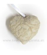 Srdce Alabaster flower malé - zľava 50%