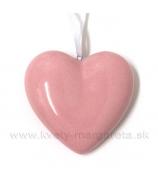 Srdce rúžový porcelán 7cm