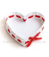 Srdce tácka plechová