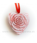 Ruža v tvare srdca 4cm