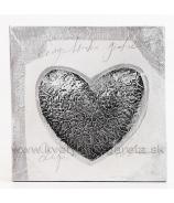Obraz na plátne Abstraktné metalizované srdce 30cm