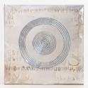 Obraz na plátne Strieborné kruhy 30cm