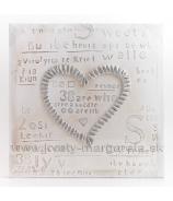Obraz na plátne Srdce s nápismi zahnuté 50cm zľava  - 40%