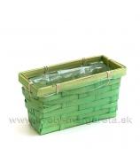 Košík hranatý truhlík brčálovo zelený