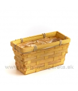 Košík hranatý truhlík - žltý