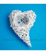 Srdce zahnuté aranžovacie biele 25cm