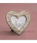 Fotorámček srdce Antique 12cm