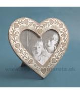 Fotorámček srdce Antique 18cm