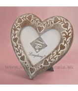 Fotorámček srdce Antique 24cm
