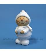 Snehuliačik so snehovou guľou porcelán