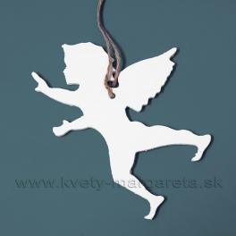 Letiaci anjel - profil biely 15cm výpredaj 50%