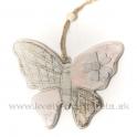 Drevený závesný motýľ naturál 11cm