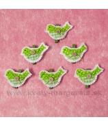 Štipčeky vtáčiky zelené 6ks