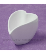 Porcelánová miska srdce zahnuté 11cm