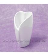 Porcelánová miska srdce zahnuté 16cm