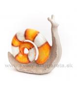 Slimák pruhovaná dúha veľký oranžový 23cm